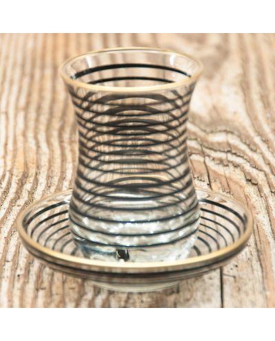 Teeglas schwarze Streifen