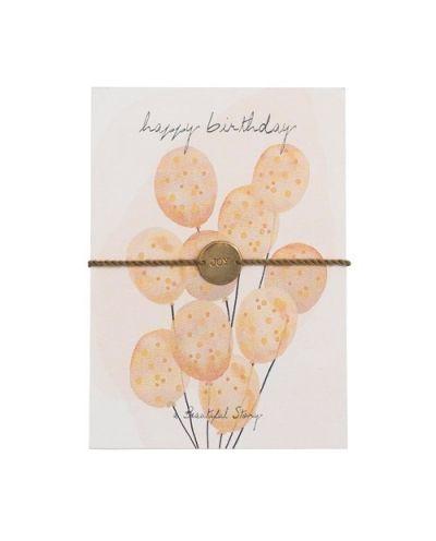 Armband mit Karte happy birthday