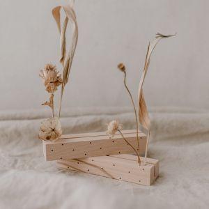 Karten und Trockenblumenständer Punkte 2er Set