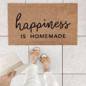 Fussmatten Happiness is homemade