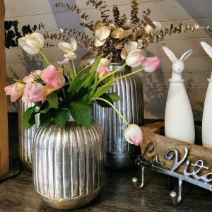 Vase zink handgearbeitet 30cm