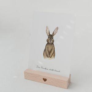 Karten und Trockenblumenständer 2er Set Herz