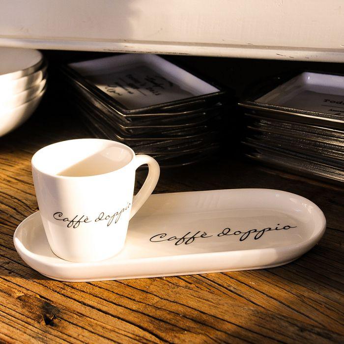 Uitgelezene Riviéra Maison Espressotasse essen, schenken, geniessen, schöner QB-52
