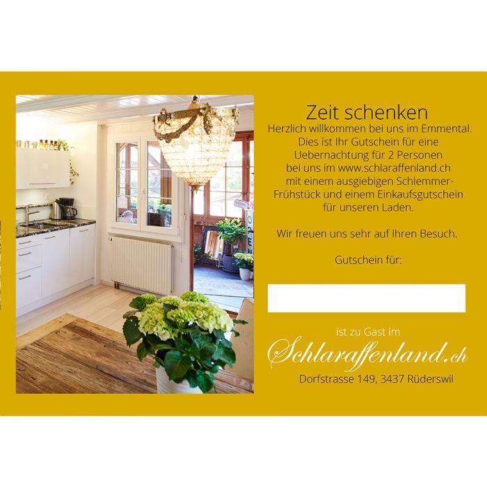 Gutschein Zeit Schenken Online Shop Schlaraffenlandch Essen