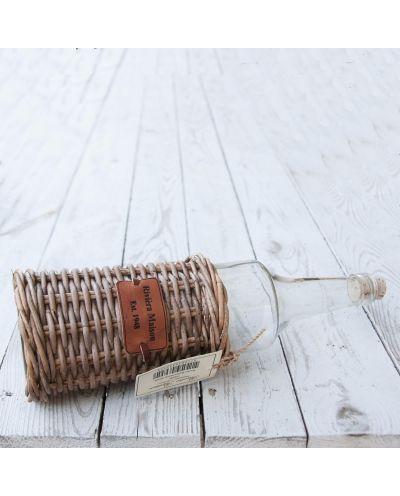 Flasche Rustic rattan bottle S