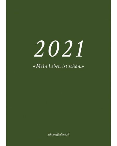 Agenda  Kalender Tagebuch 2021, moosgrün