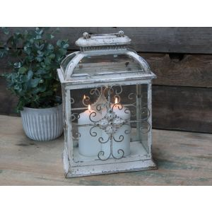 Laterne weiss shabby