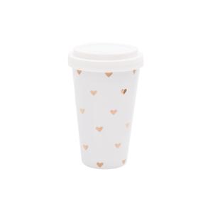 Coffee-To-Go Becher Goldene Herzen