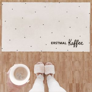 Erstmal Kaffee waschbare Fussmatte