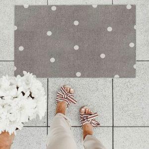 Waschbare Fußmatte weiße Punkte