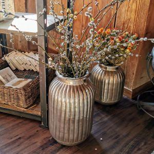 Vase zink handverarbeitet 45cm